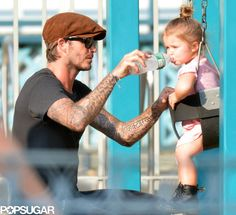 David Beckham and Harper are Just. Too. Cute.