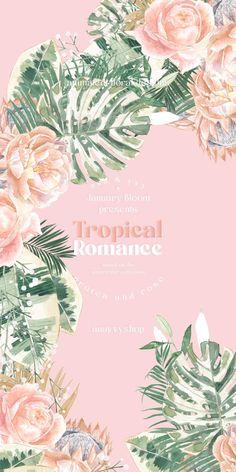 Wreath Watercolor, Watercolor Rose, Cute Patterns Wallpaper, Art N Craft, Blooming Flowers, Cellphone Wallpaper, Flower Backgrounds, Flower Frame, Wedding Cards