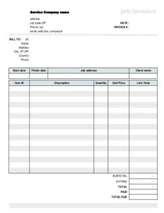 53 Printable Invoice Ideas Printable Invoice Invoice Template Invoicing