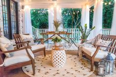 When you plan to invest in patio furniture you want to find some that speaks to you and that will last for awhile. Although teak patio furniture may be expensive its innate weather resistant qualit… Decks, Back Porch Makeover, Deck Design, House Design, Outdoor Spaces, Outdoor Living, Outdoor Kitchens, Building A Porch, Backyard Patio Designs