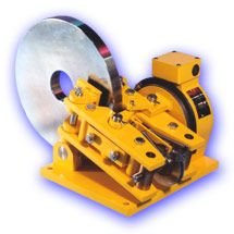 Foot mounted, the Johnson magnetic disc brake is built with fabricated steel mechanism and separate enclosed control units for DC or AC supplies.