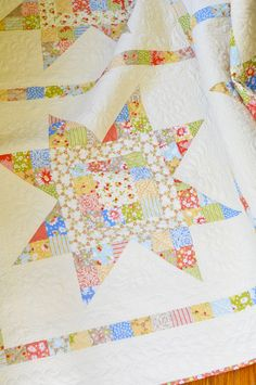 """""""Sparkle"""" made in California Girl fabric  All by Fig Tree Quilts    Love the California Girl line.  Made a quilt for my bed with this line."""