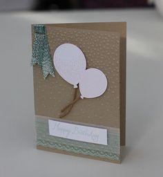 Birthday Balloon Celebration Card by StickerKitten