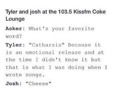 Cheese<< I am Josh, Josh is I, we are the same