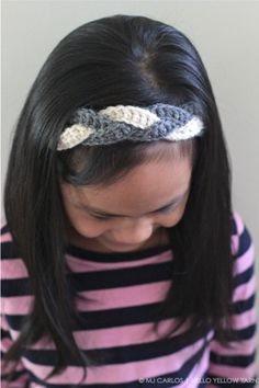 Hold your hair back with a braided headband -- crochet pattern and tutorial from Hello Yellow Yarn
