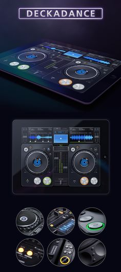"Deckadance UI - ""Image Line, the producer of famous FL Studio software, has developed another app — the one called Deckadance. This is the app which will turn your iPad or iPhone into DJ Mixing system."""