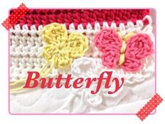 How to crochet a butterfly motif ちょうちょの編み方 by meetang - YouTube
