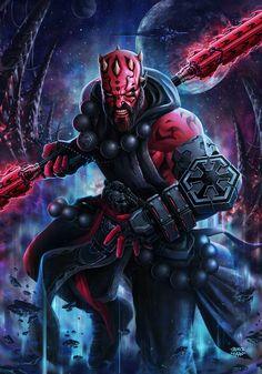MONK Darth MauL (Star Wars ReImagined Challenge) by sadeceKAAN.deviantart.com on @DeviantArt