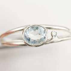 Aquamarin Diamant Ring