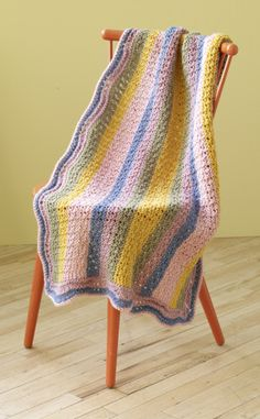 Knit this baby blanket for those expecting in the summer.
