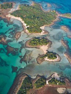 Aerial view - Lichadonisia in Evia, Greece Beautiful Islands, Beautiful Places, Greek Sea, Places In Greece, Greek Beauty, Photos Voyages, Island Life, Island 2, Greek Islands