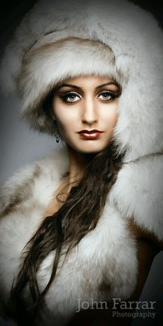 Creative Beauty Photography by John Farrar. Creating pictures that grab the viewers attention. Fur Fashion, White Fashion, Gothic Fashion, Fashion Tips, Beauty Photography, Fashion Photography, Feminine Mystique, Fabulous Furs, Russian Beauty