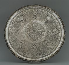 SILVER FROM THE EAST » Islamic Silver from the Middle East » Persian Silver Tray