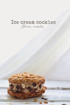 chocOlate oatmeal cookies with banana ice cream