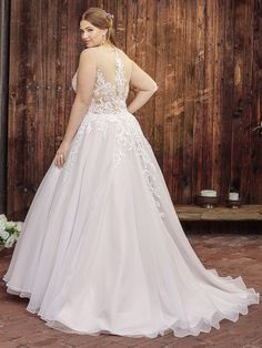 Beloved by Casablanca Bridal Style BL249 Coral (Classic Fit)