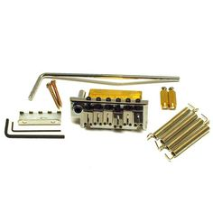 Ant Hill Music Stratocaster Guitar Style 2 Point Guitar Bridge w/Hardware Chrome