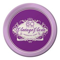 Creative Converting 8 Count Vintage Vixen 60th Birthday Round Dinner Plates *** Review more details here : Food Service Equipment Supplies