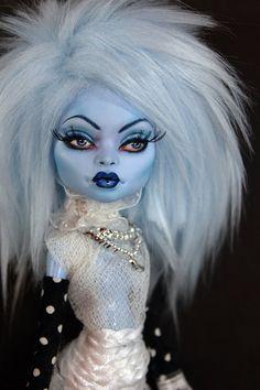 BLUE NARUNA Monster Doll High Class Abby Art by Refabrications