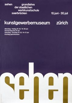Sehen by Becker, Ruedi | Vintage Posters at International Poster Gallery