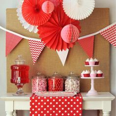 Hostess with the Mostess® - Be My Valentine valentine day, party desserts, valentin parti, dessert tabl, sweet desserts, valentines day party, parti idea, backdrop, valentine party