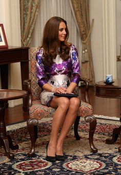 Kate Middleton Photos - The Duke And Duchess Of Cambridge Diamond Jubilee Tour - Day 1 - Zimbio