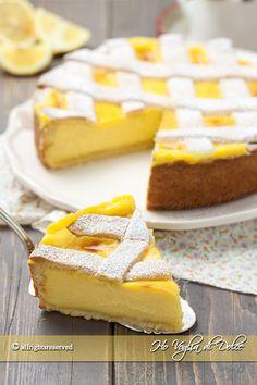 Crostata al limone ricetta passo passo Sweet Recipes, Cake Recipes, Dessert Recipes, Torte Cake, Italian Desserts, Sweet Cakes, Ricotta, Cake Cookies, Sweet Tooth