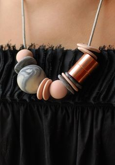 how to make a marbled polymer clay and copper necklace
