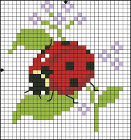 Ladybug cross stitch.