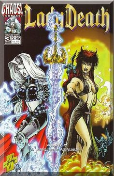 Lady Death separates herself from Lady Demon who is trying to merge their bodies together (they used to be one being created by Lucifer). Only $5.99 with Free Shipping!