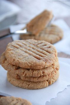 Gluten Free Skinny Peanut Butter Cookies that are healthy. Only 4 natural ingredients. They are dangerous. . . So dangerously good that is.