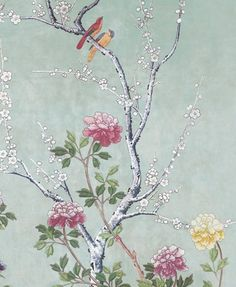 Chinese Blossom Wallpaper.  Love it.