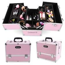 New Pro Aluminum Makeup Train Jewelry Storage Box Cosmetic Organizer Travel Case