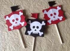 Bandera pirata primeros de la magdalena de boda divertida cumpleaños baby shower Party alimentos treat a medida colors24pcs