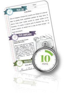 10 minutes pour... 36 fiches pour lire, comprendre en s'amusant et écrire.