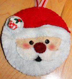 Felt Santa ornament #felt #crafts #santa