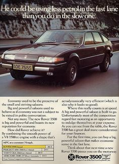 New Rover 3500 promotion Vintage Advertisements, Vintage Ads, Retro Ads, Vintage Travel, Automobile, Car Advertising, Classic Cars, Classic Auto, Old Cars