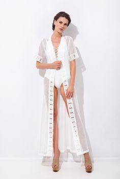 Μακρύ καφτάνι γιλέκο με σχέδιο τρέσα Ss16, Kimono Top, Cover Up, Saree, Tops, Dresses, Women, Fashion, Vestidos