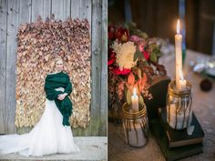 winter wedding ideas - photo by Tom and Keidi http://ruffledblog.com/leafy-winter-inspiration
