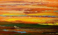 Blazing Sky Reflected III by Kimberly Conrad, Acrylic