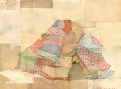 New Art Works: Mel Kadel: Found and Stained Papers Sweet Drawings, Old Fort, Simple Art, Pretty Pictures, Drawing S, Cute Art, Graphic Illustration, New Art, Illustrators