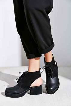 Shellys London Cutout Lace-Up Bootie