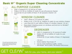 Shaklee's Basic H organic super cleaning concentrate