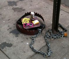 PBR, neon shades and a pack of American Spirits: It's a hipster trap, all right.