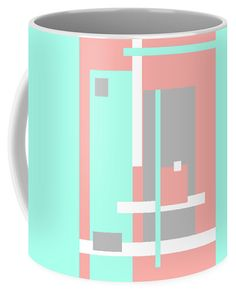 Jenny Rainbow Fine Art Coffee Mug featuring the photograph Pastel Geometric Abstract by Jenny Rainbow Mugs For Sale, Fine Art Photography, Coffee Mugs, Pastel, Rainbow, Abstract, Gifts, Design, Presents