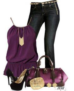 Dressy. . And purple. . Win. !