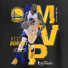 Kevin Durant Golden State Warriors Fanatics Branded Youth 2017 NBA Finals Champions MVP T Shirt