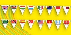 * NEW * Rio Olympics 2016 Country Flags Bunting