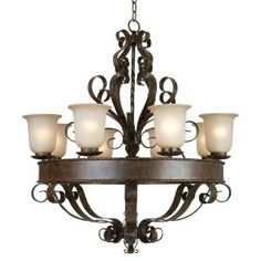 Yosemite Home Decor Mckensi Collection 8-Light 41.5 in. Hanging Chandelier-93938-8FGS at The Home Depot