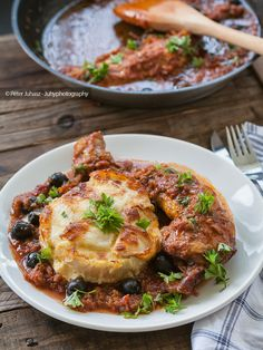 Cacciatore with layered Celery root
