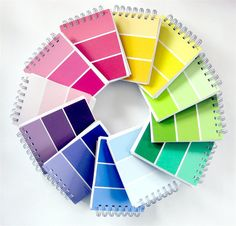 What's better than a fun DIY? A DIY with free supplies! Grab some paint samples from your local hardware store and take your pick from the p. Paint Sample Cards, Paint Samples, Paint Chip Art, Paint Chips, Arts And Crafts, Paper Crafts, Diy Crafts, Paint Swatches, Art Party